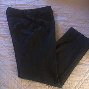 WHBM black pant slim leg 8R, like new